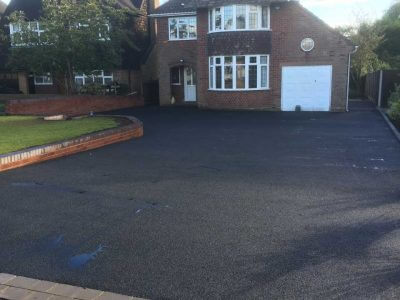 Tarmacadam Driveway With Wall Walsall
